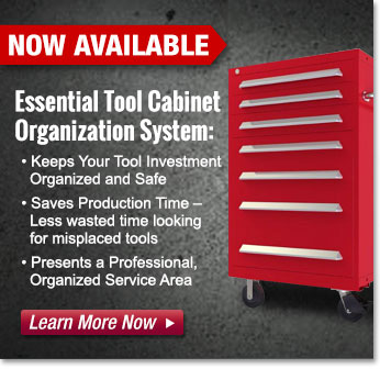 Now Available Essential Tool Cabinet Organization System